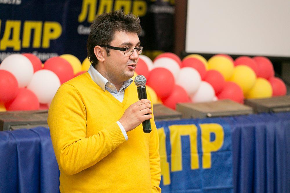 Дмитрий Лобойко на партийной школе ЛДПР