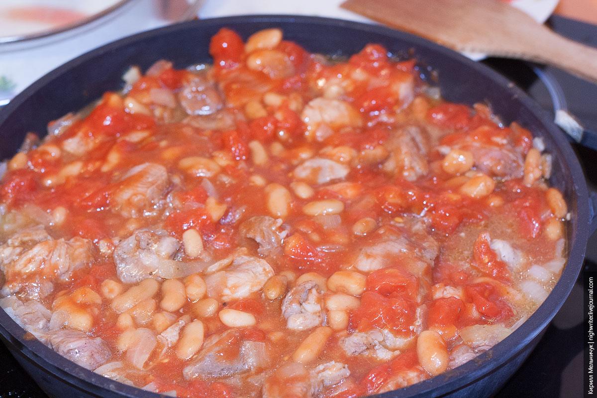 Рецепт фасоли с томатом мясом