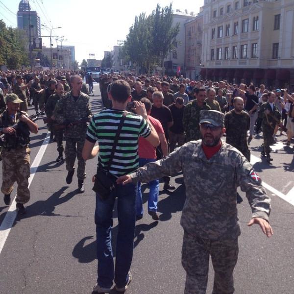 Марш протоукров в Донецке