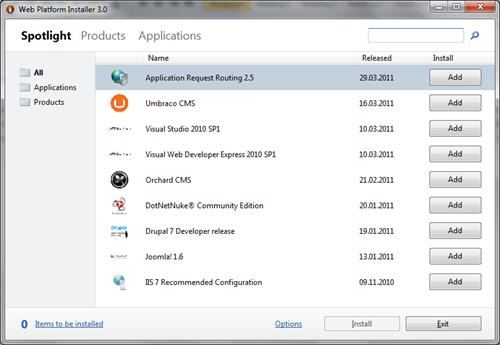 Web Platfrom Installer 3.0