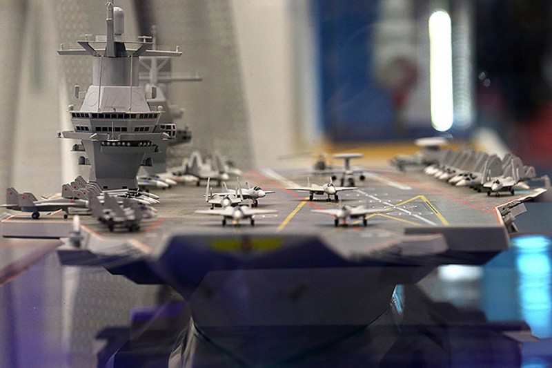 "Модель авианосца ""Шторм-Э"". Фото с сайта kp.md"