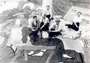 Picasso-realise-rideau-pour-le-ballet-Parade