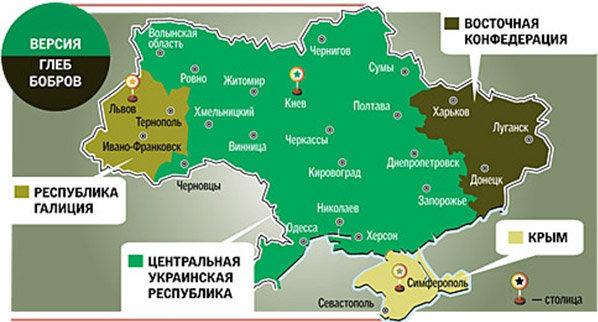 карта украины по версии Глеба Боброва