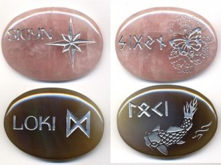 Commissioned Loki & Sigyn Altar Stones