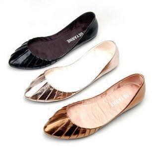 Women-s-Tipped-toe-Shiny-Pleated-PU-font-b-Slip-b-font-font-b-on-b