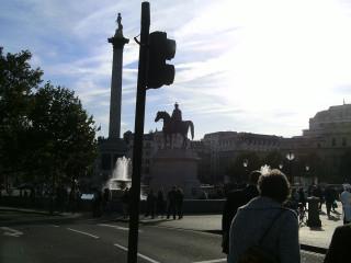 First view of Trafalgar Square