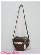 PresentRibbonHeartShoulderBag-brown