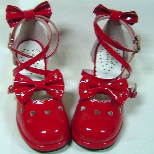 bright-red-bows-lolita-shoes