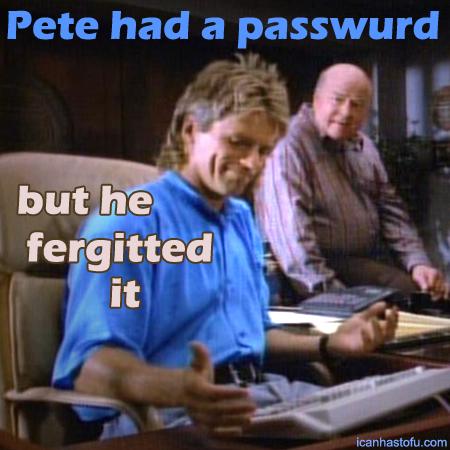 It's probably 'password'.