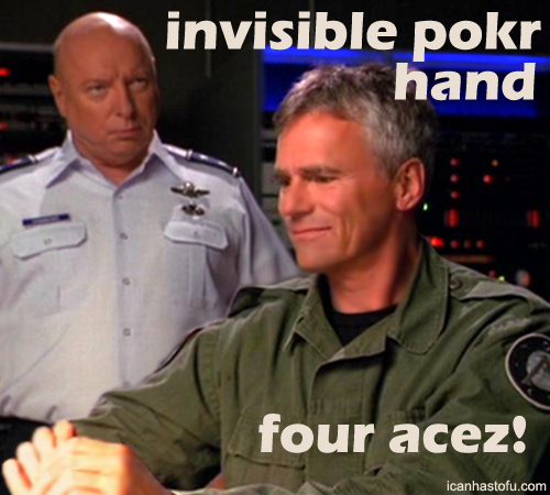 Poker face: ur doin it wrong.