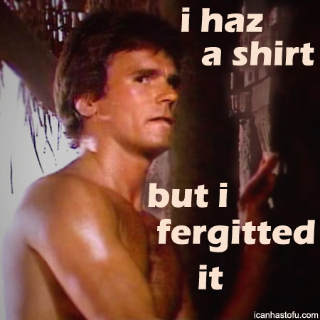 How could that have happened?  His shirts are so memorable!