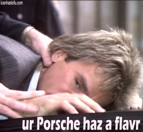 We love his taste in cars.
