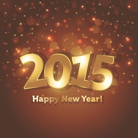 Happy-New-Year-2015-Golden-Font-on-dark-brown-and-black-background