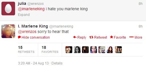 I. Marlene King  imarleneking  on Twitter