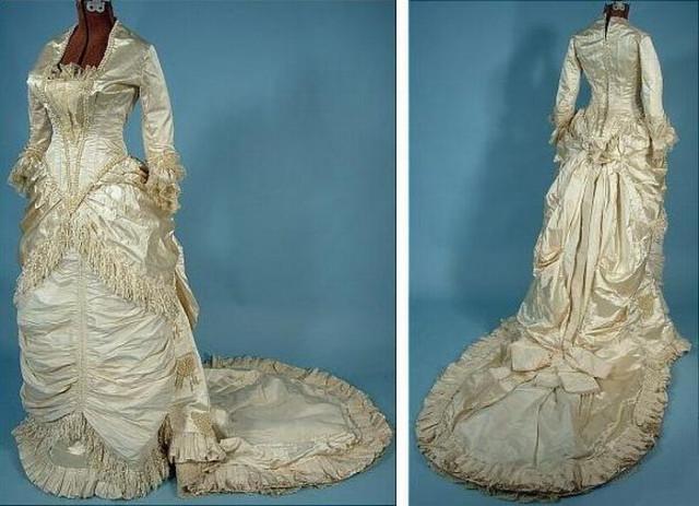 Старинное фото свадебное платье