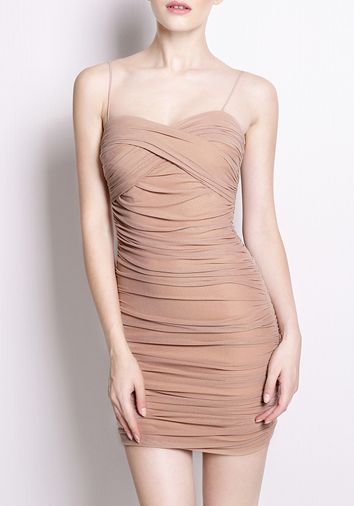 Ruched Bodycon Slip Dress