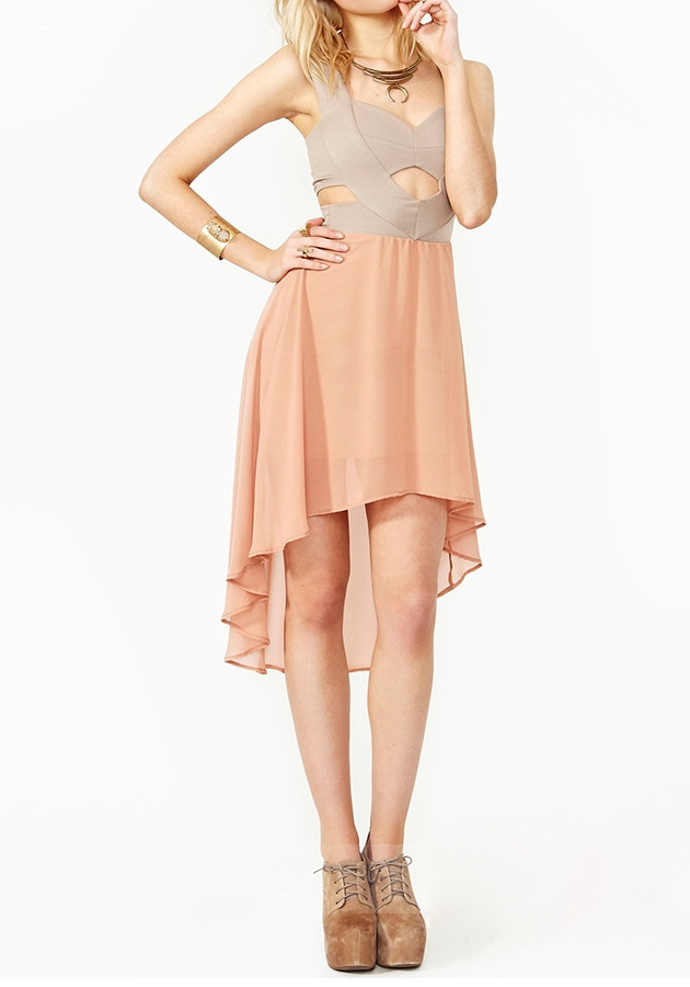 Sweetheart Chiffon Mullet Dress