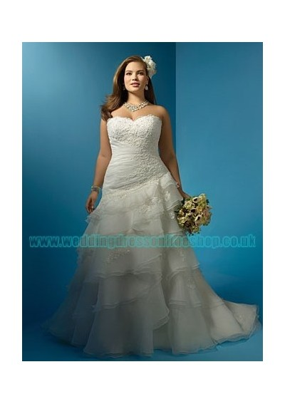 organza-strapeless-sweetheart-neckline-with-applique-bodice-and-sexy-mermaid-skirt-in-rich-ruffles-and-chapel-train-plus-size-2011-hot-sell-bridal-dress-wa-0088