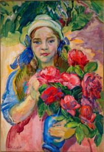 Николай Тархов. Портрет дочери. х.м. 1910-е