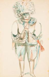 А.Тышлер. Эскиз костюма к спектаклю Чапаев, 1929-1930гг.