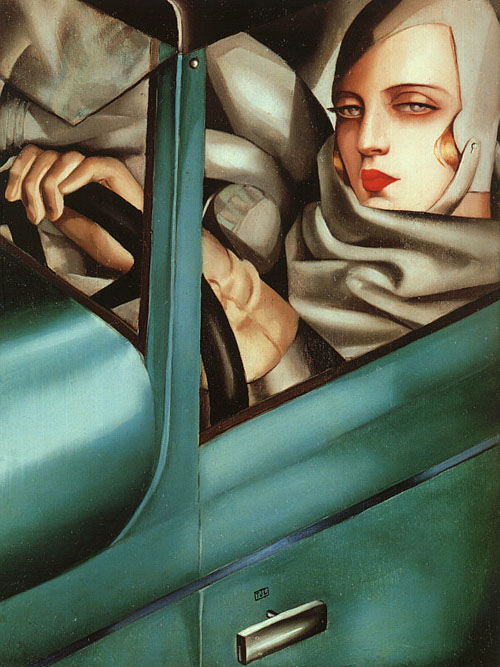 Tamara Lempicka in her green Bugatto