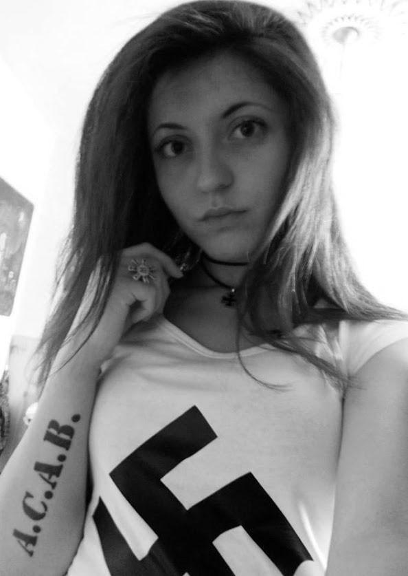 Girls wearing swastika