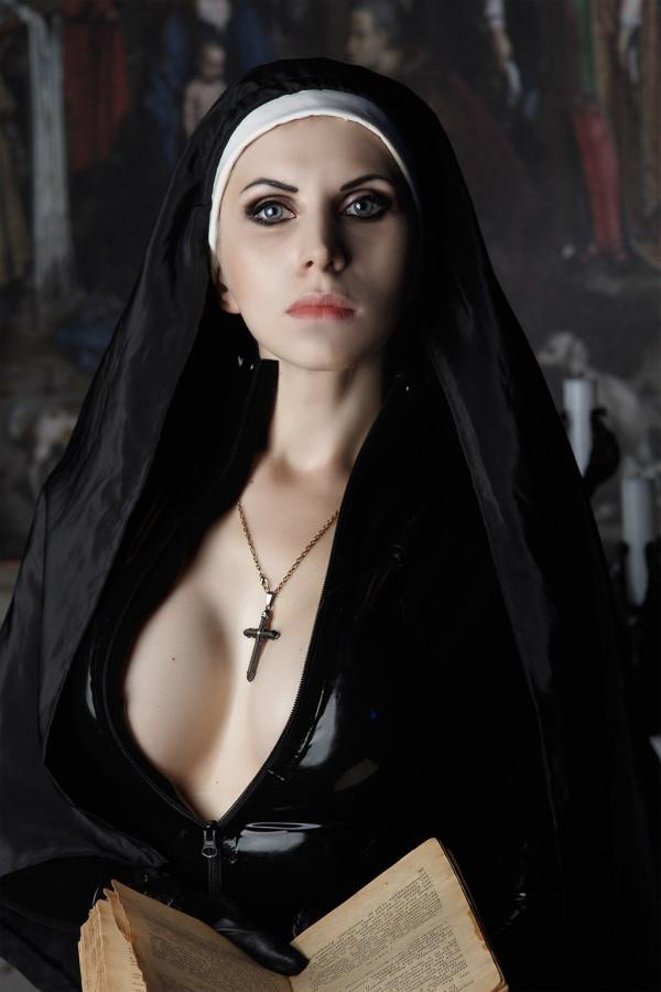 Gothic Easter Fantasy Sexy Nun Party Dress