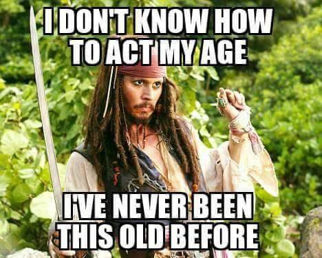 Act my Age...