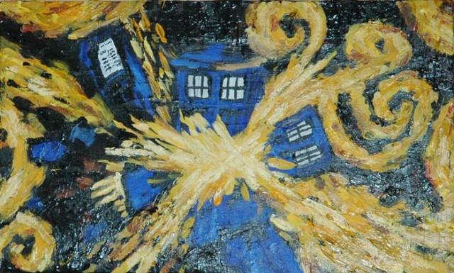 Van Gogh Exploding Tardis Wallpaper - WallpaperSafari