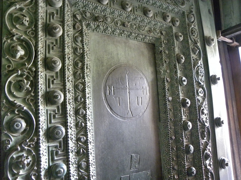 bronze doors of the Church of Hagia Sophia Istanbul