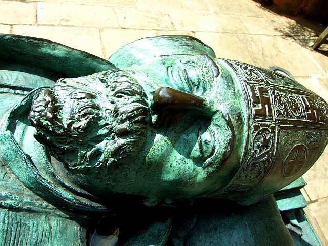 Bronze effigy of Bishop Huyshe Wolcott Yeatman