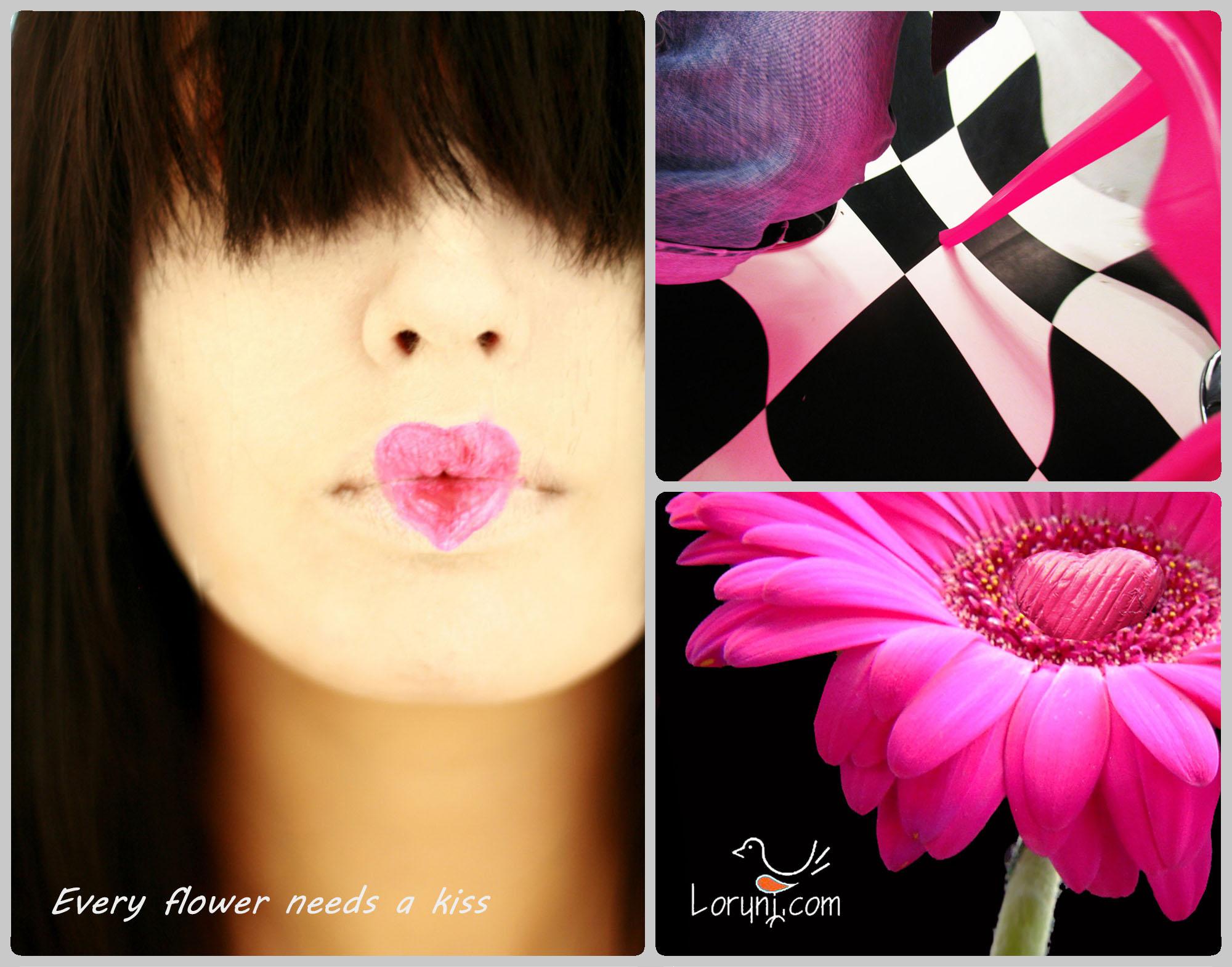 Every flower needs a kiss