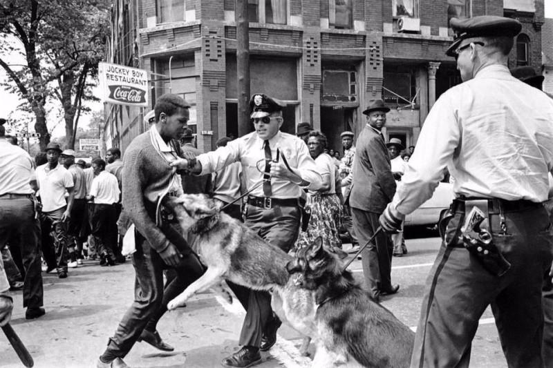 Подавление протестов в Алабаме. США.