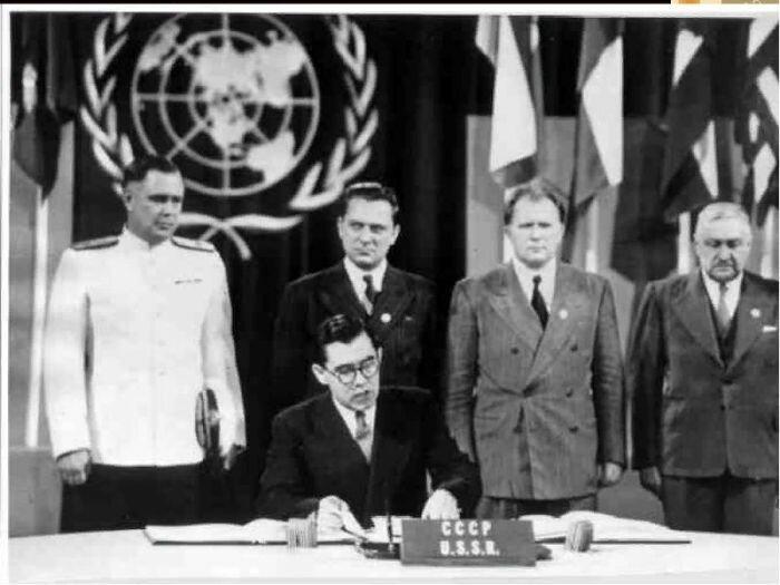 Андрей Громыко во главе советской делегации в ООН