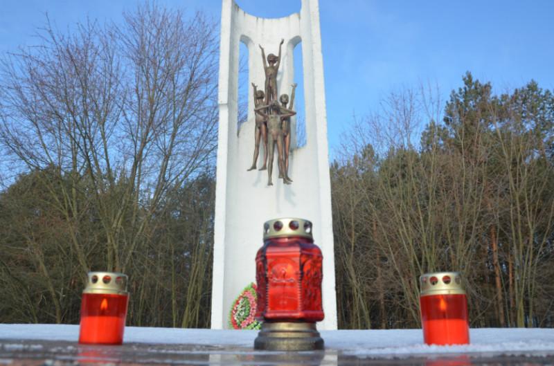 Монумент при въезде в Домачево.