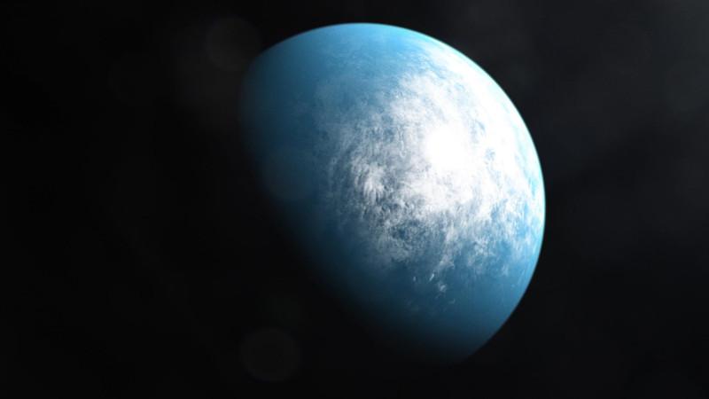 Возможно так может выглядеть обитаемая планета.