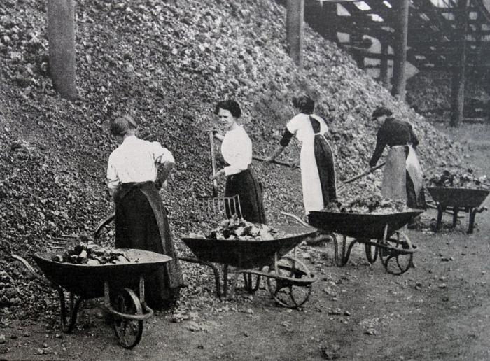 Загрузка угля в Ковентри.