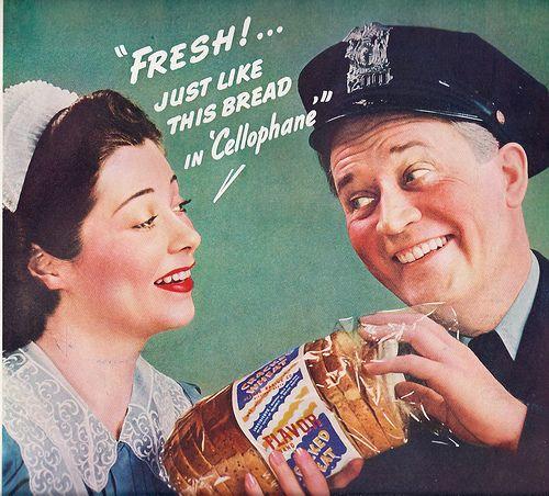 Реклама целлофана в США.