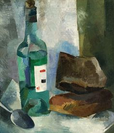 Роберт Фальк. Натюрморт с бутылкой. 1916