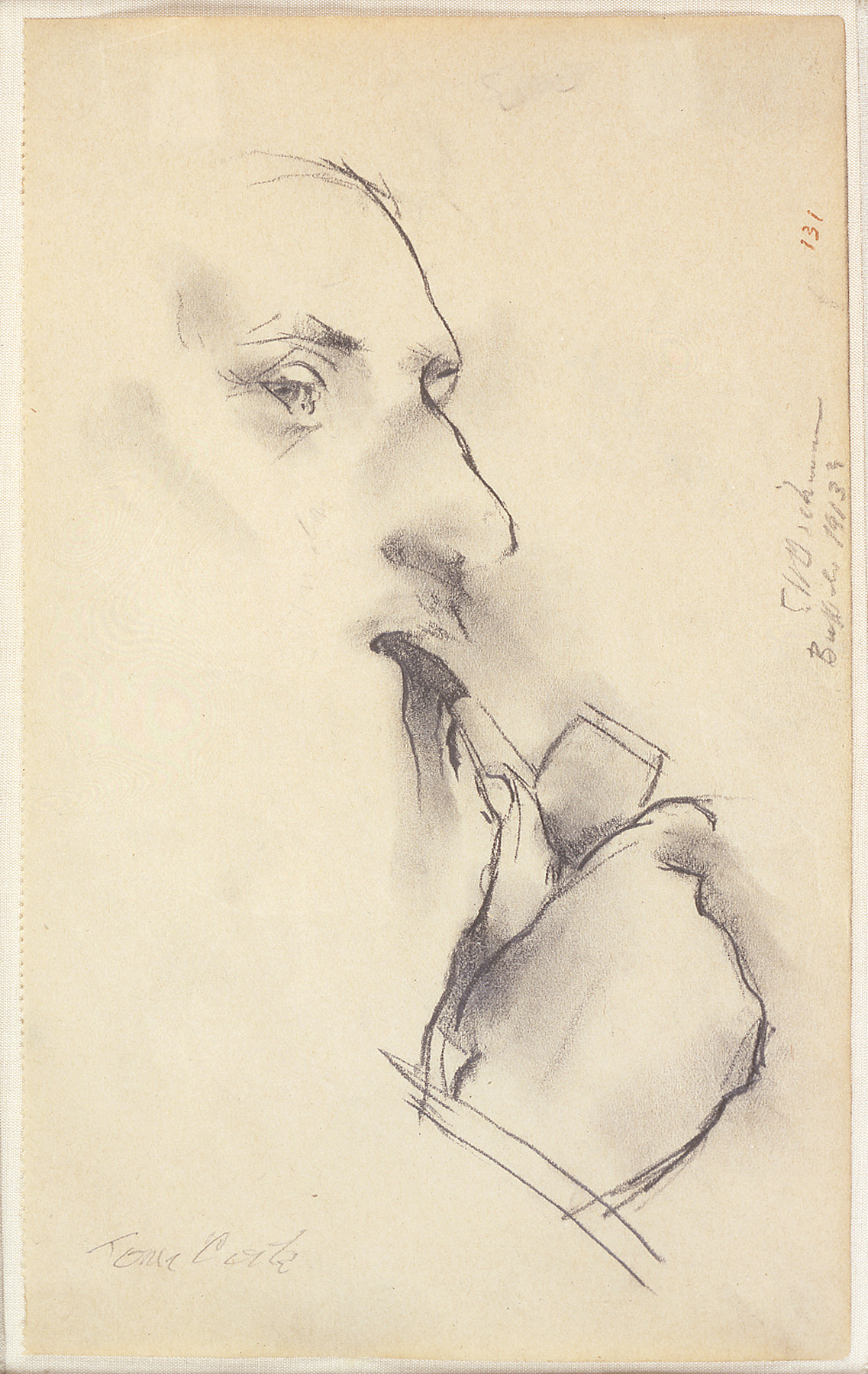 Dickinson-Portrait-of-Tom-Clark-with-Pipe-FO-11120