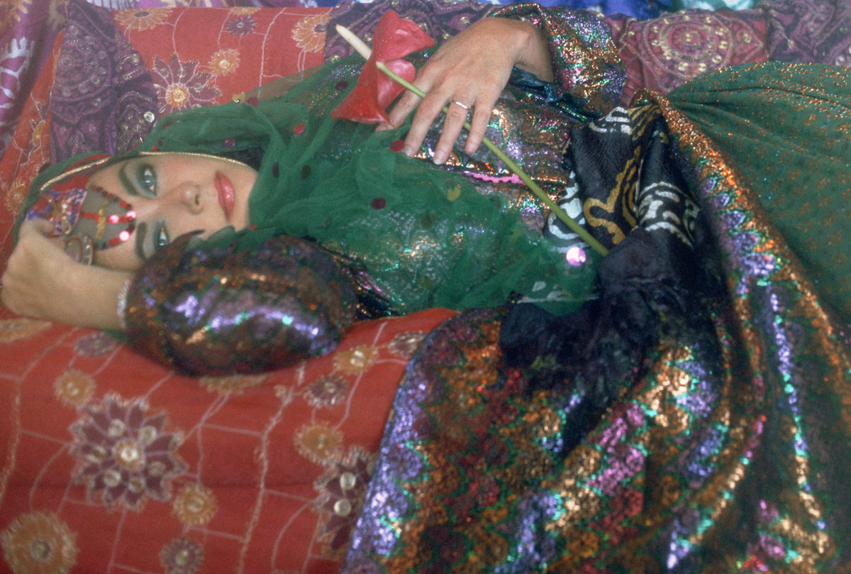 Elizabeth Taylor Dressed as an Odalisque Firooz Zahedi