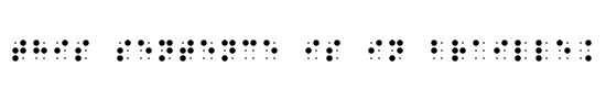 This sentence is in Braille.