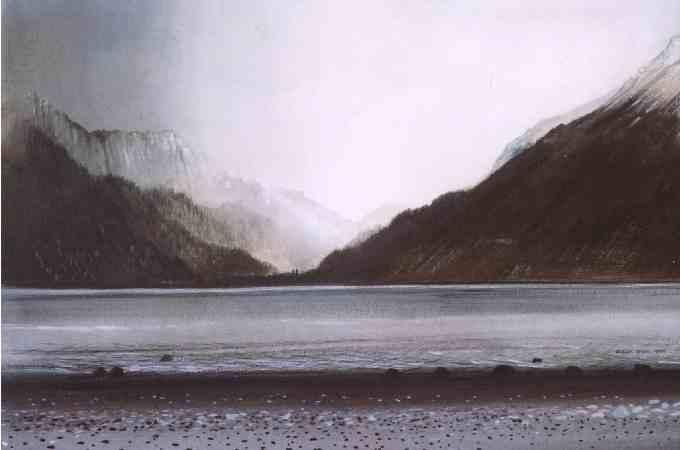 Loch Long, a bleak landscape.