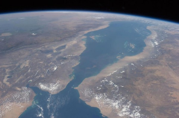 The Red Sea, changing and growing, from International Space Station 20 October 2012. Credit NASA