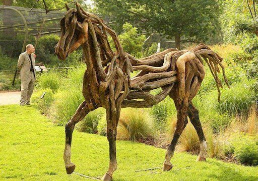 A Horse Made From Driftwood, by Heather Jansch
