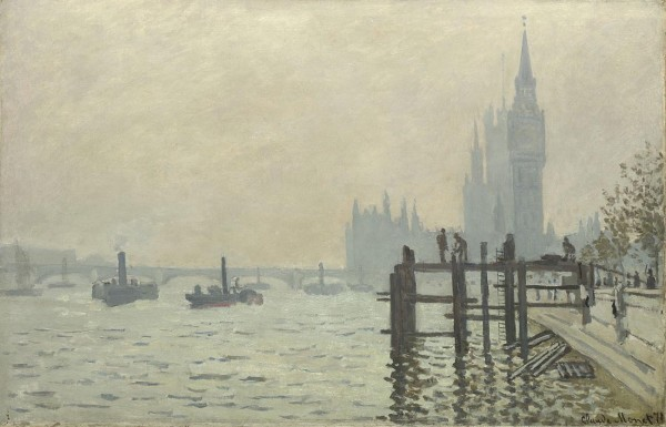'The Thames below Westminster' by Monet