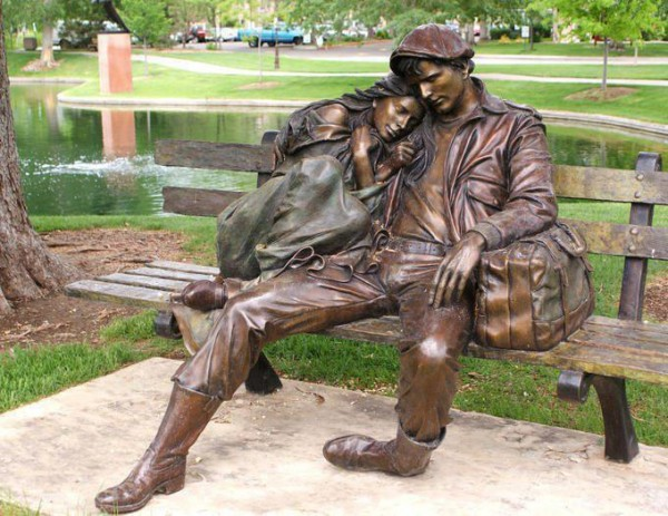 Departure by George Lundeen - near Loveland Library, Colorado USA