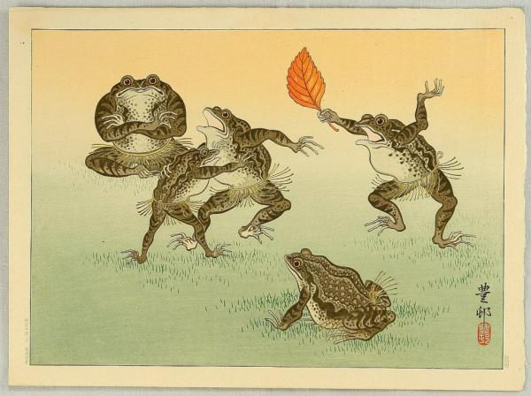 Frog Sumo, Ogata Gekkō (1859-1920)