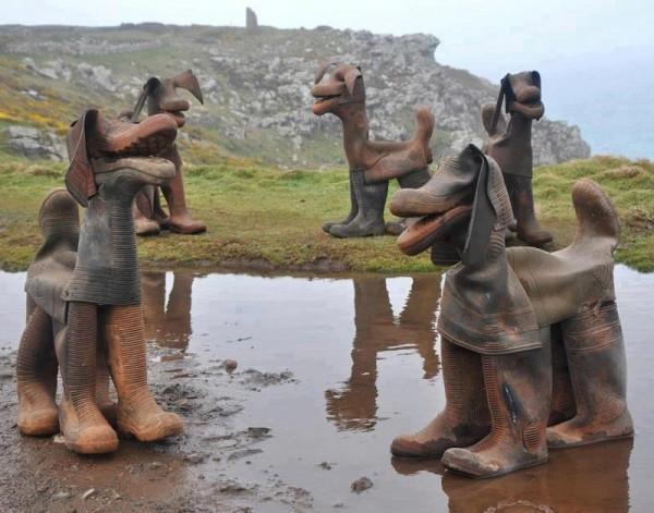 recycled wellies