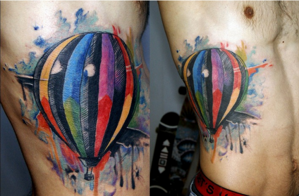 Watercolor tat from TrueArtist Zoolei from Turkey